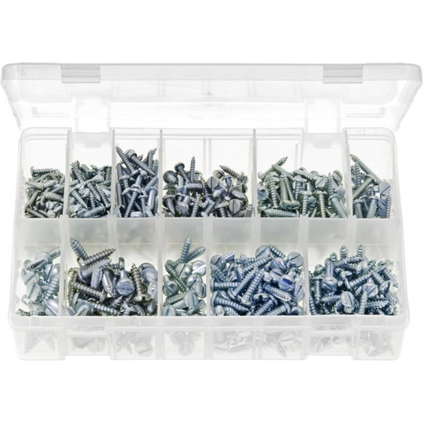 Self-Tapping Screws Pan Head - Slotted (Small Sizes-700 Pieces) - AB1