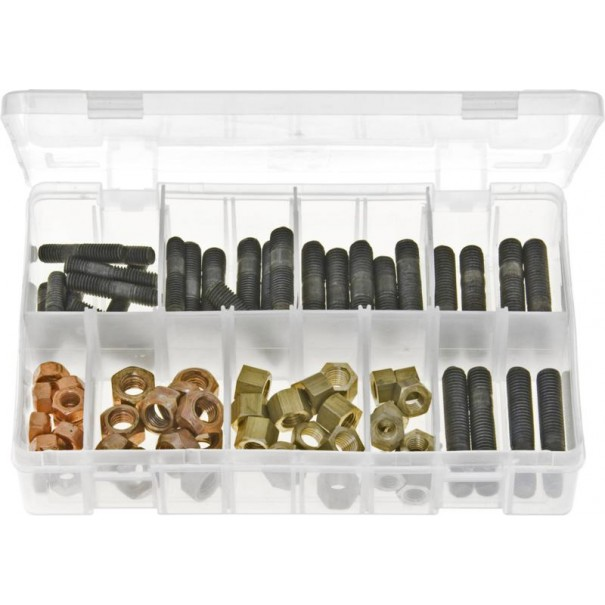 Exhaust Manifold Studs & Nuts - Metric (72 Pieces) - AB116