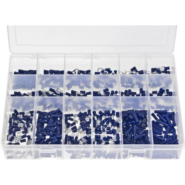 Terminals Insulated - Blue (600 Pieces) - AB502