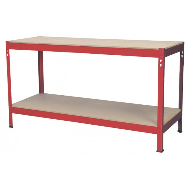 Sealey Workbench 1.53mtr Steel Wooden Top - AP1535