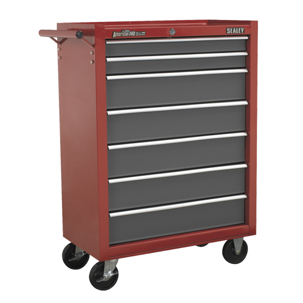Sealey Rollcab 7 Drawer with Ball Bearing Runners - Red/Grey - AP22507BB