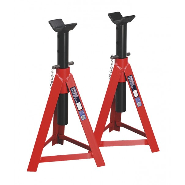 Sealey Axle Stands 5tonne Capacity per Stand 10tonne per Pair Medium Height - AS5000M