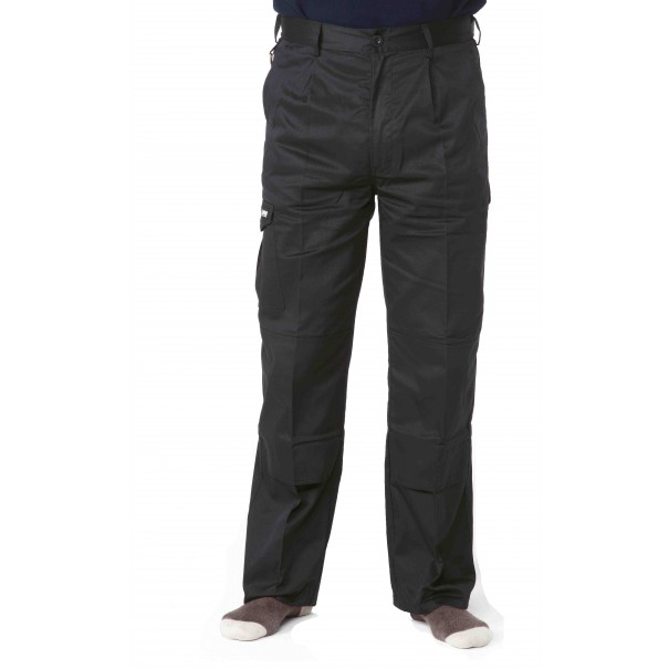 "W32"" L31"" Black Apache Cargo Work Trousers - BLACK3231"