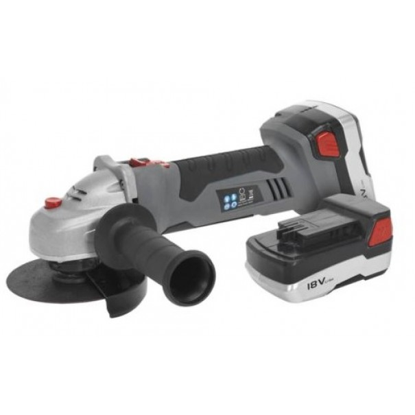 Cordless Lithium-ion Angle Grinder  115mm 18V 1hr Charge - 2 Batteries - CP5418V