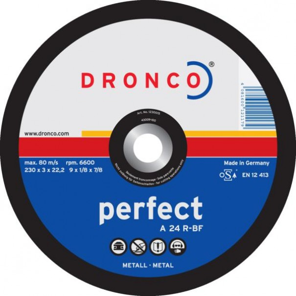 "4"" DRONCO Depressed Centre Metal Cutting Disc (O.d 100 x Thickness 3.0 x Hole Dia 16mm) - DCD1A"