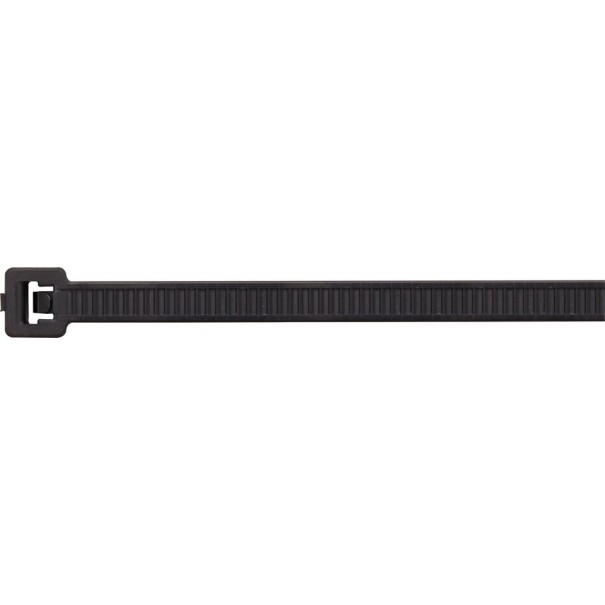 HELLMN Cable Ties Black T120R 390x7.6mm (Pack of 100) - ECT4