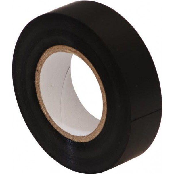 PVC Insulation Tape 19mm Black 20m (Pack of 10) - EPT1