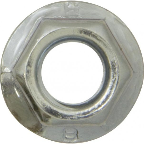 M10 x 1.25mm Flanged Fine Threaded Nuts (50 Pack) - BR110BF