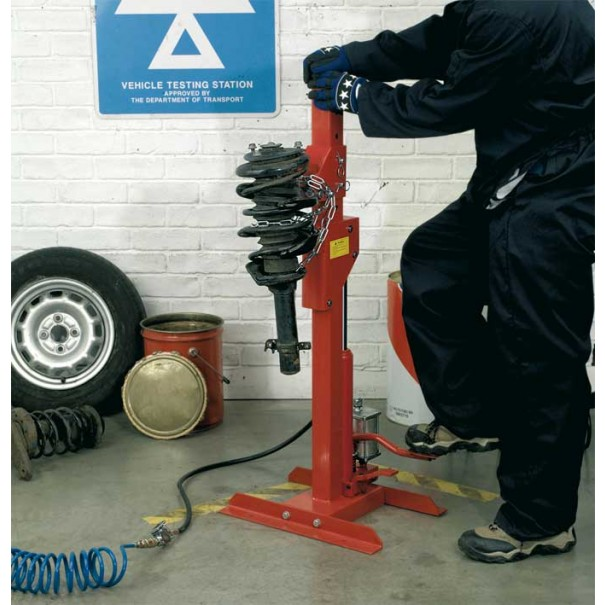 Sealey Coil Spring Compressing Station - Air/Hydraulic 1500kg Capacity - RE232