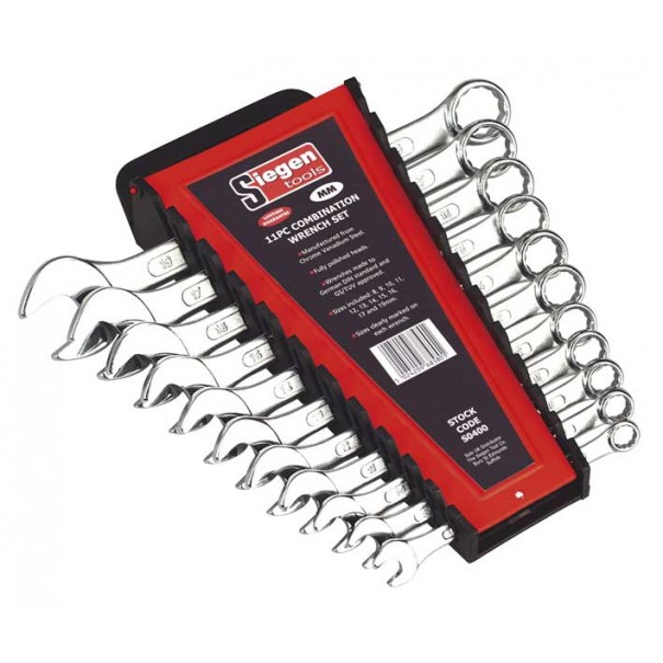 Sealey Combination Spanner Set 11pc Metric - S0400