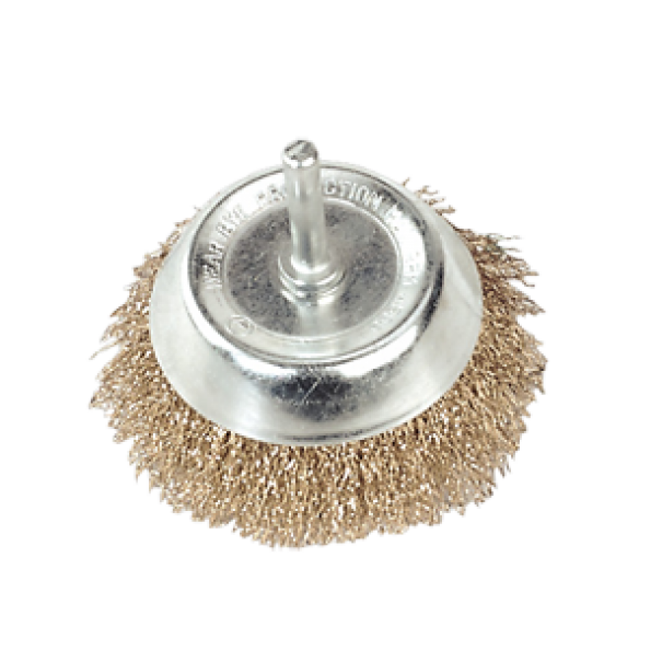 Wire Cup Brush 75mm with 6mm Shaft - SCB75