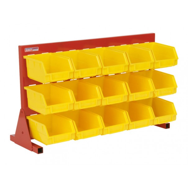 Sealey Bin Storage System with 15 Bins Bench Mounting - TPS15