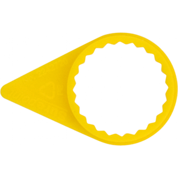 CHECKPOINT Indicators 32mm Yellow (Pack of 100) - TY432C