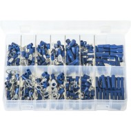 Terminals Insulated - Blue (280 Pieces) - AB161