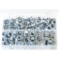 Nylon Lock Nuts - Metric (275 Pieces) - AB201N