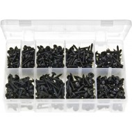 Self-Tapping Screws Flanged - Pozi Black (700 Pieces) - AB71