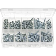 Self-Tapping Screws Pan Head - Pozi (Large Sizes) (300 Pieces) - AB94