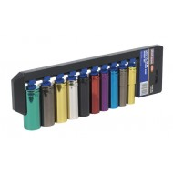 "SEALEY Multi-Coloured Socket Set 10pc 1/2""Sq Drive 6pt Deep WallDrive  Metric - AK288D"