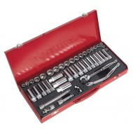 "Sealey Socket Set 45pc 3/8""Sq Drive 6pt WallDrive  - DuoMetric  - AK692"