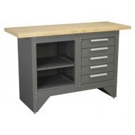 Workbench with 5 Drawers Ball Bearing Runners Heavy-Duty - AP2030BB