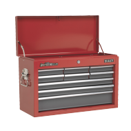 Sealey Topchest 9 Drawer with Ball Bearing Runners - Red/Grey - AP22509BB
