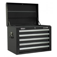 Topchest 5 Drawer with Ball Bearing Runners - Black - AP26059TB