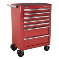 Rollcab 7 Drawer with Ball Bearing Runners - Red - AP26479T