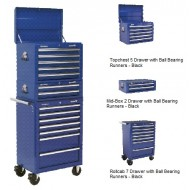 Topchest, Mid-Box & Rollcab Combination 14 Drawer with Ball Bearing Runners - blue - APSTACKTC