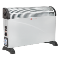 Convector Heater 2000W 3 Heat Settings Thermostat Timer Turbo Fan - CD2005TT
