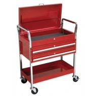 Trolley 2-Level Heavy-Duty with Lockable Top & 2 Drawers - CX1042D