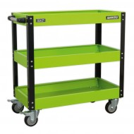 Workshop Trolley 3-Level Heavy-Duty - Hi-Vis Green - CX110HV
