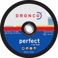 "9"" DRONCO Depressed Centre Metal Cutting Disc (O.d 230 x Thickness 3.0 x Hole Dia 22.23mm) - DCD9A"