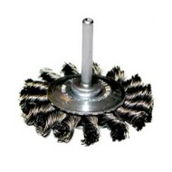 Twisted Knot Wire Wheel Brush With Stem 75mm x 6mm - F3365STEM