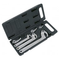 Sealey Adjustable Hook & Pin Wrench Set 11pc - HWS03