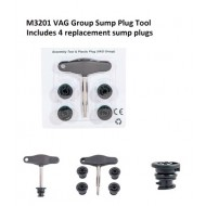 VAG Group Sump Plug Tool & 4 Spare Plugs - M3201
