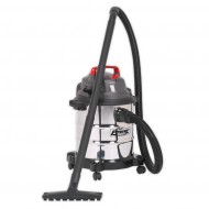 Vacuum Cleaner Wet & Dry 20ltr 1250W Stainless Drum - PC195SD