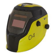 Welding Helmet Auto Darkening Shade 9-13 - PWH4 YELLOW