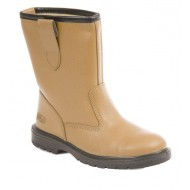 Tan Leather Safety Rigger Boots Size 6 - RIGGER6