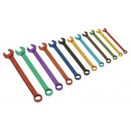 Combination Spanner Set 12pc Multi-Coloured Metric - S01074