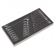 Tool Tray with Combination & Deep Offset Spanner Set 20pc - Metric - S01124