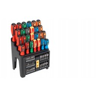 Hammer-Thru Screwdriver, Bit & Nut Driver Set 61pc - S01153