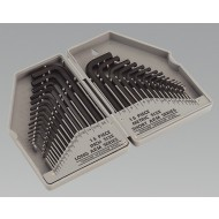 Hex Key Set 30pc Long/Short Arm - Metric/Imperial - S0484