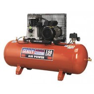 SEALEY Compressor 150ltr Belt Drive 3hp with Cast Cylinders - SAC2153B