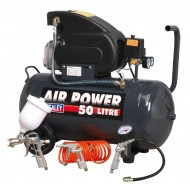 Compressor 50ltr Direct Drive 2hp with 4pc Air Accessory Kit - SAC5020EPK
