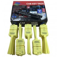 250 Premium Key Tags with Tail *YELLOW*