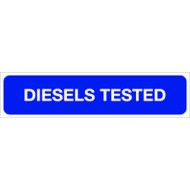 Diesels Tested Sign 146mmx600m 10mm - SMS0030