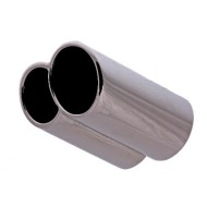 "Stainless Steel Exhaust Tail Pipe Trim O.D= 2 1/2"" Length= 7"" - STR47L"