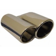 "Stainless Steel Exhaust Tail Pipe Trim O.D= 3"" Length= 8"" - STR48L"