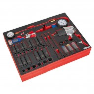 Tool Tray with Impact Wrench, Sockets & Tyre Tool Set 42pc - TBTP08
