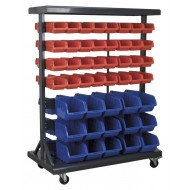 Sealey Mobile Bin Storage System with 94 Bins - TPS94